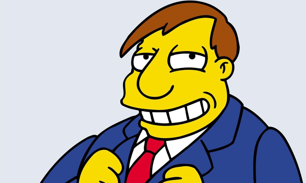Mayor Quimby from The Simpsons