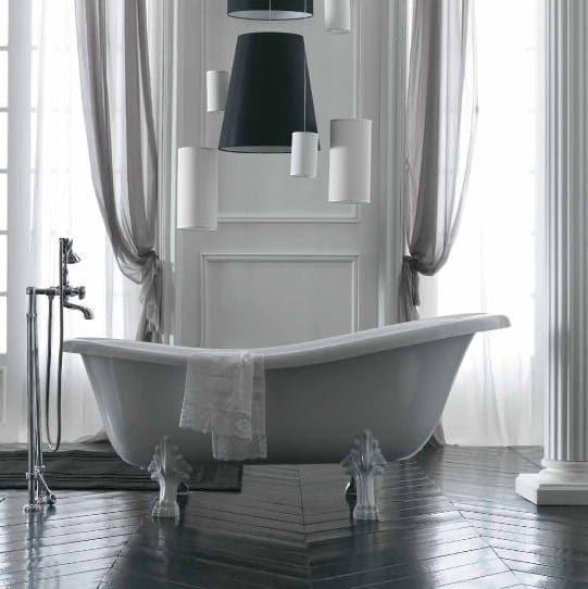 Vasca da bagno centro stanza in vetroresina su piedi ETHOS ...