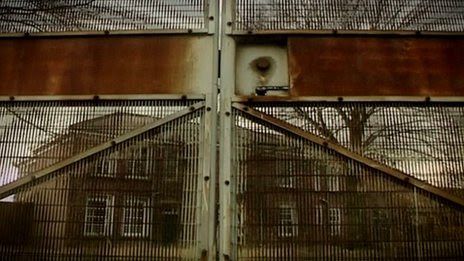 Closed gates at Medomsley Detention Centre