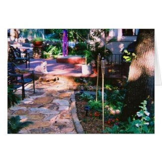 Flagstone Garden Path Card