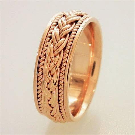 14K Rose Gold Wedding Band,Engagement Ring,Men & Women