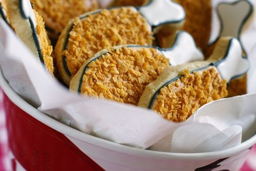 fried chicken cookies ::: bake at 350 blog