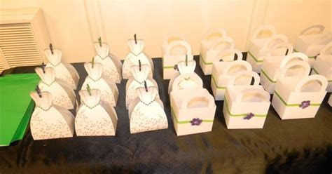 Dollar Tree favor boxes that I blinged up for the wedding
