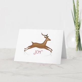 Reindeer Christmas Card card