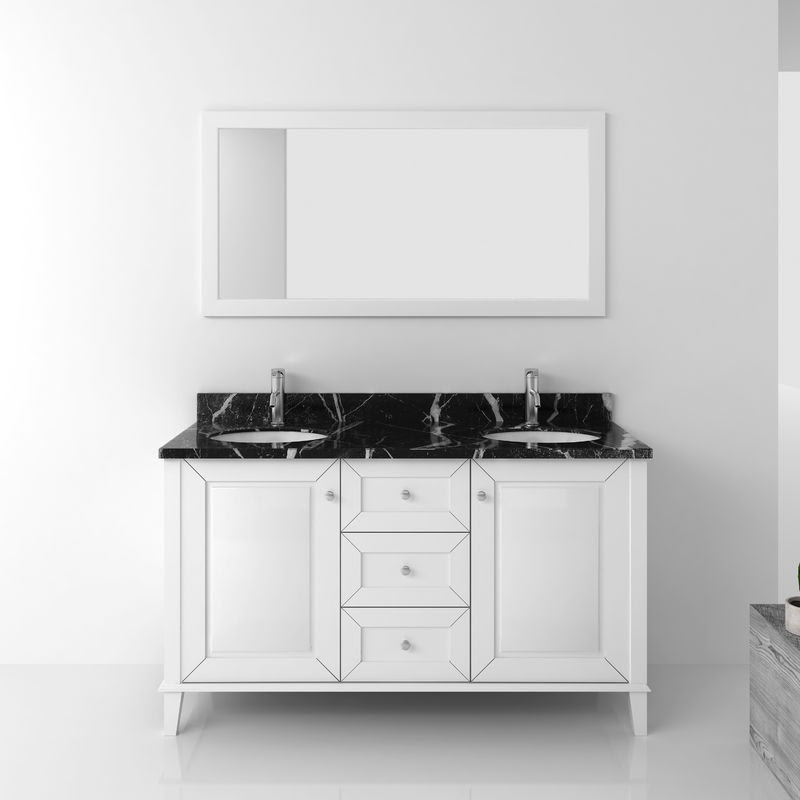 Modern Sanitary Furniture Bathroom Cabinet Sets With Double Basin