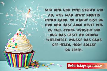 ᐅ Top Sprüche Zum 20 Geburtstag Glückwünsche Für Sie Und Ihn