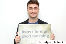 Updated: Daniel Radcliffe supports Life and Deaf association's Sign Good Morning campaign