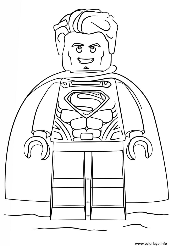 Coloriage Lego Superman Super Heroes Jecoloriecom