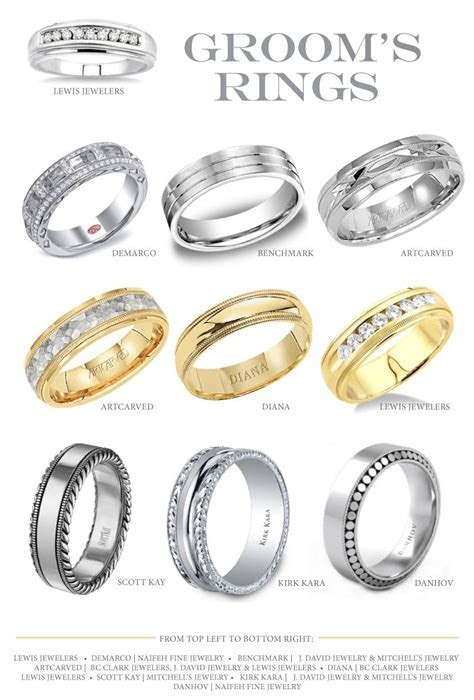 Gorgeous groom's rings from Oklahoma vendors. #wedding #