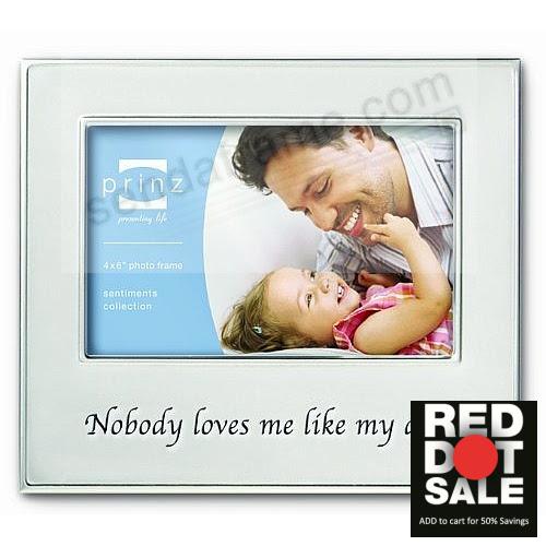 Celebrate Dad In Fancy Engraved Brushed Aluminum Picture Frames