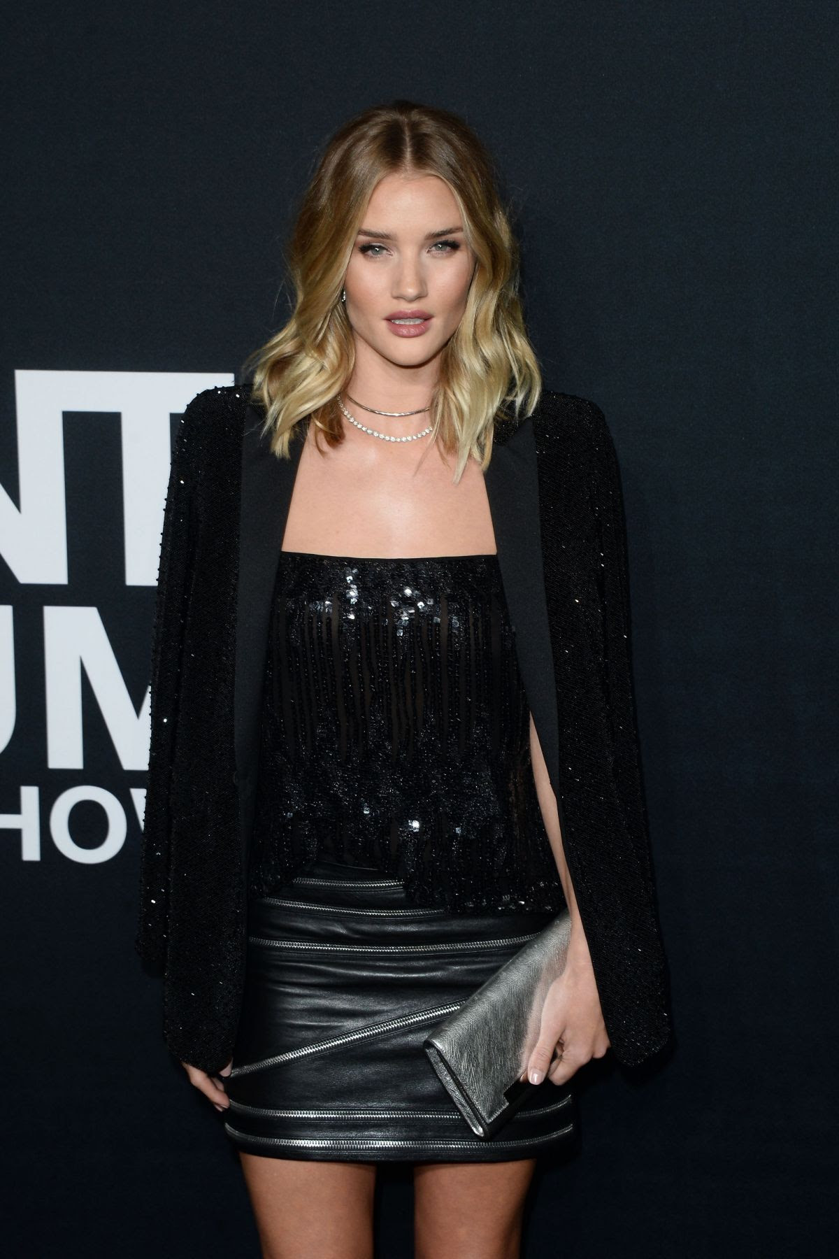 ROSIE HUNTINGTON-WHITELEY at Saint Laurent Fashion Show in Los Angeles 02/10/2016