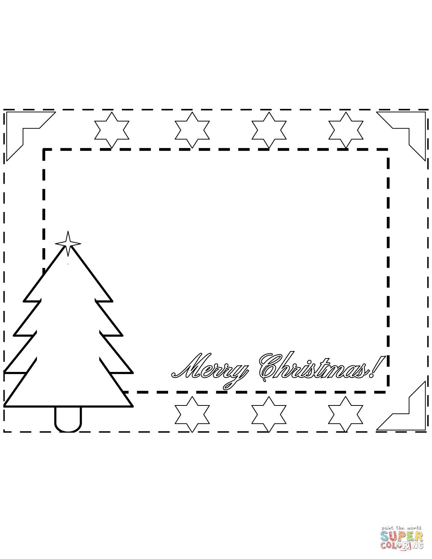 Merry Christmas Border coloring page | Free Printable ...