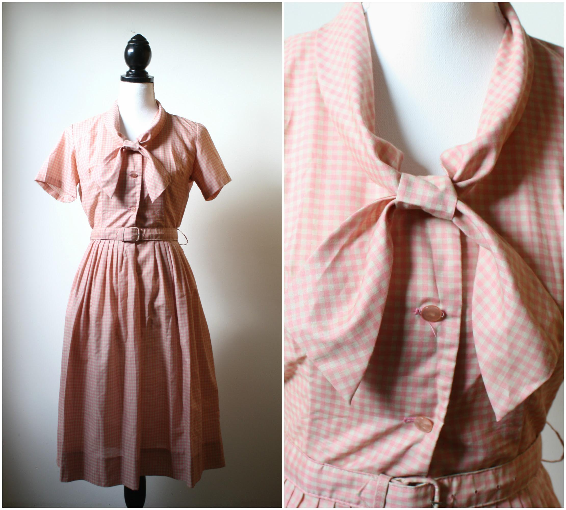 1950s sailor collar house dress