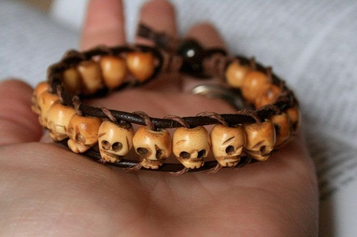 Leather Skull Bracelet by clroavieg.deviantart.com on @deviantART