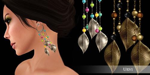 Zaara : Urvi Leaf chandelier earrings