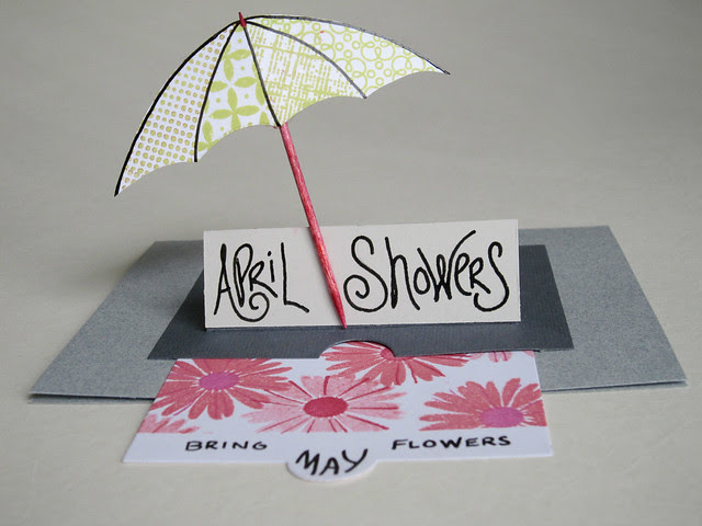 April Showers Bring May Flowers PTI Sliders Die Card