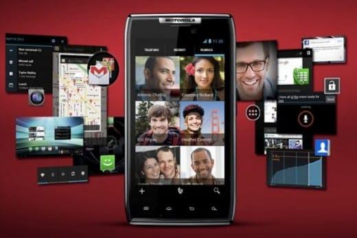 Android 4.0 Ice Cream Sandwich Motorola RAZR
