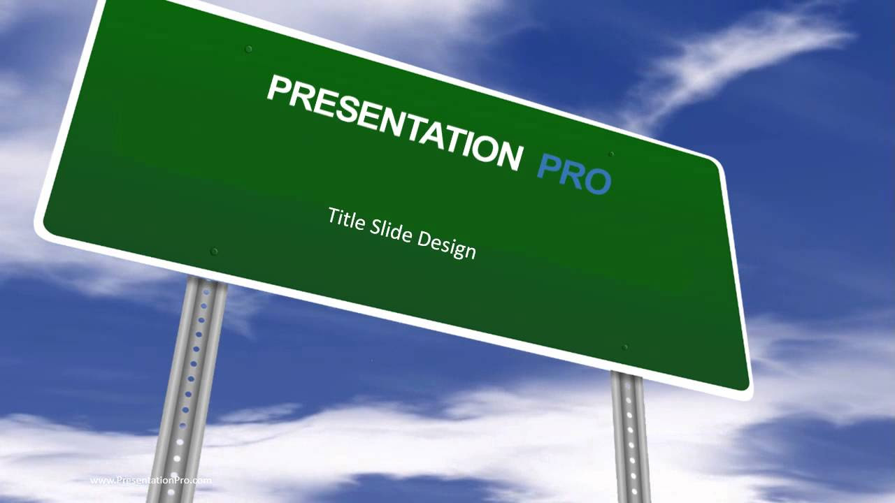 Animated Template: Blank Road Sign - YouTube