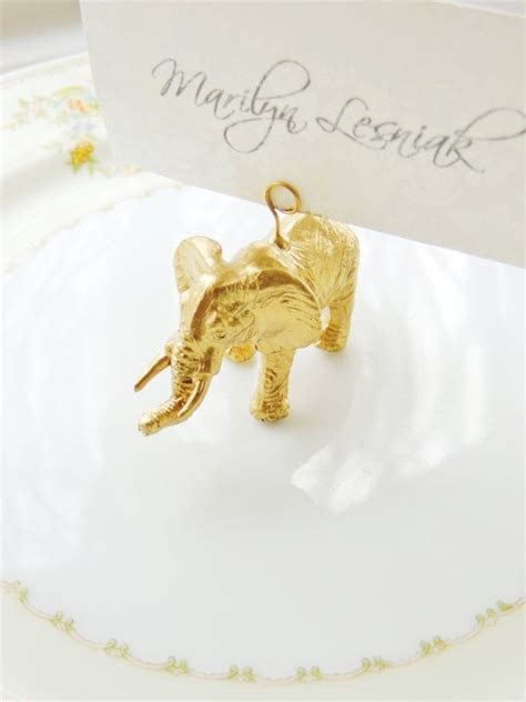 PLACE CARD HOLDERS Gold Silver Wedding Animal Zoo Jungle