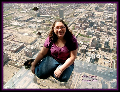 Kate at Willis Tower, Chicago 2010