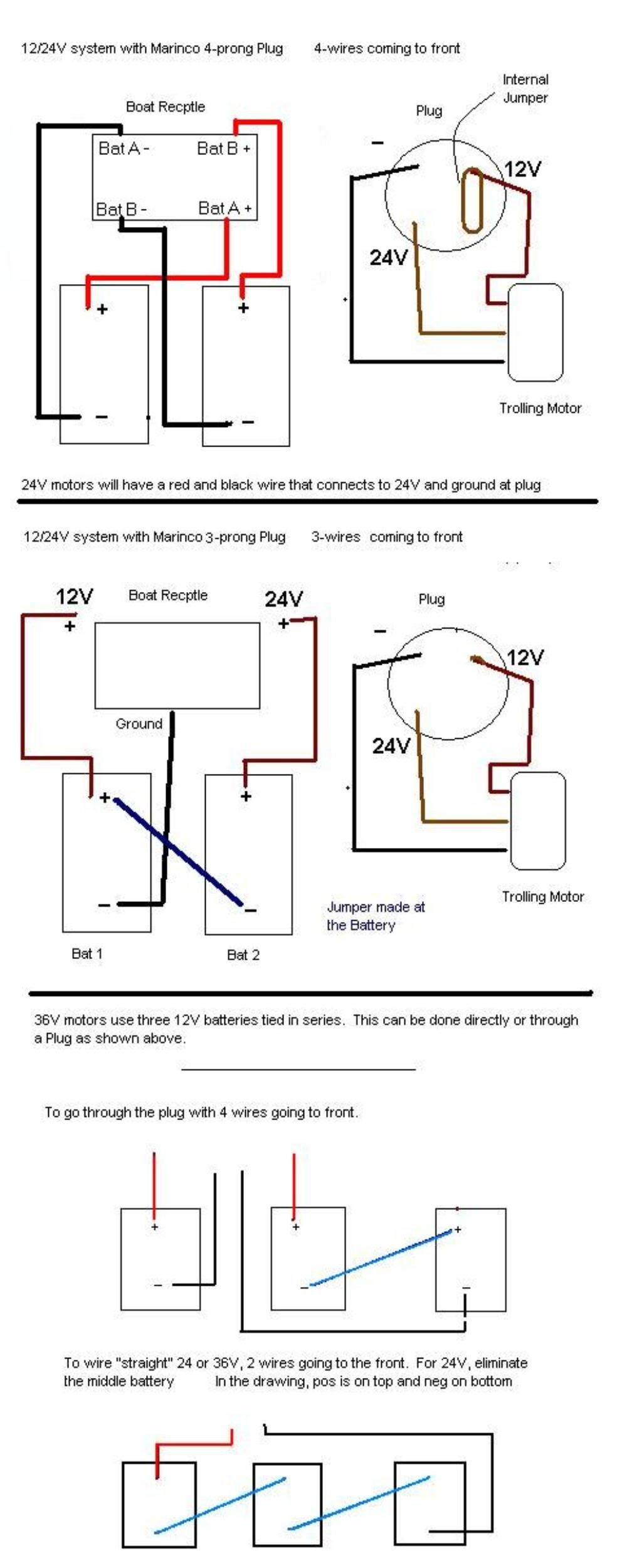 12 24 Volt Trolling Motor Wiring Diagram Ford 1 Wire Alternator Diagram Begeboy Wiring Diagram Source