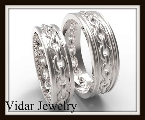 His And Her Matching Wedding Band Chain   Vidar Jewelry