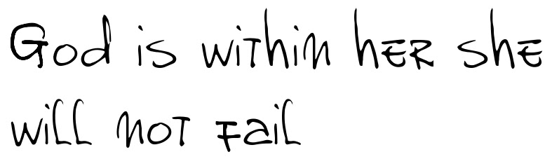 God Is Within Her She Will Not Fail Tattoo Font Download Free Scetch