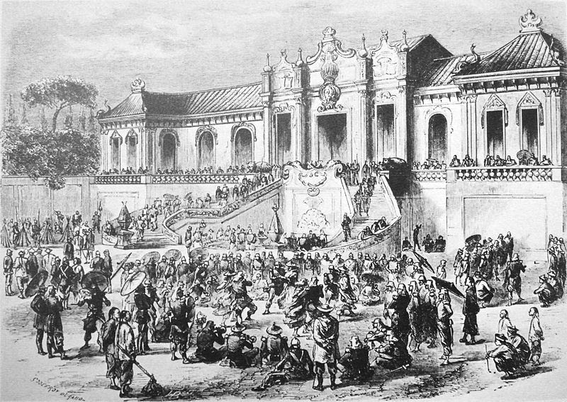 File:Looting of the Yuan Ming Yuan by Anglo French forces in 1860.jpg