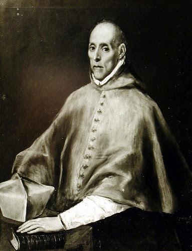 Cuadro de El Greco roto a cuchilladas (Retrato del Cardenal Tavera) tras ser restaurado