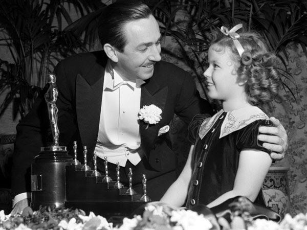 Walt Disney and Shirley Temple