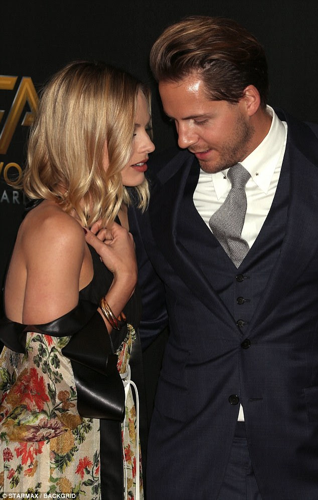First trimester? According to new reports the stunning actress is 'roughly three months pregnant' with her first child to husband Tom Ackerley (pictured)