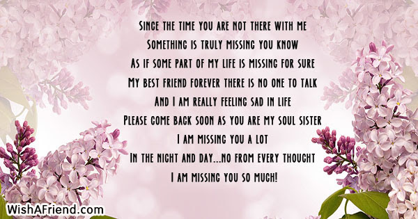Missing You Messages For Friends