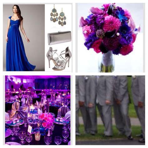 Wedding pallet cobalt blue, fuchsia, royal purple   with