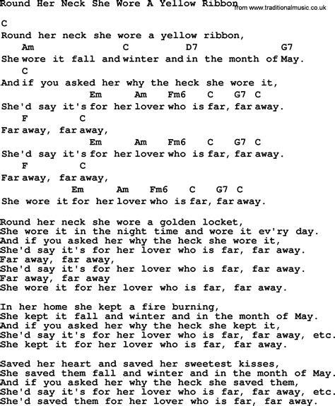 yellow ribbon song lyrics