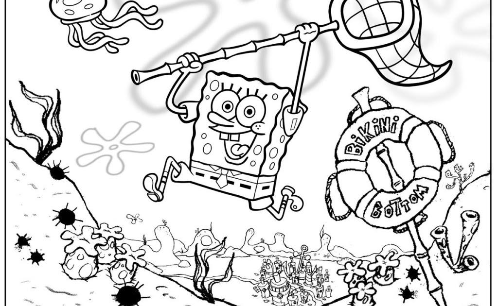Mewarnai Gambar Spongebob Lucu - Gambar Kelabu