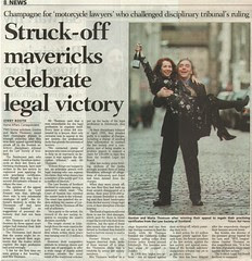 Struck off mavericks celebrate legal victory