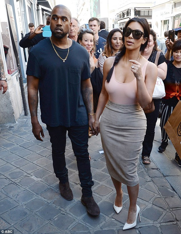 Pretty in pink: If Kim's latest, rather revealing, ensemble is anything to go by, she'll be turning on the glamour in a rather big way during her wedding to Kanye later this week
