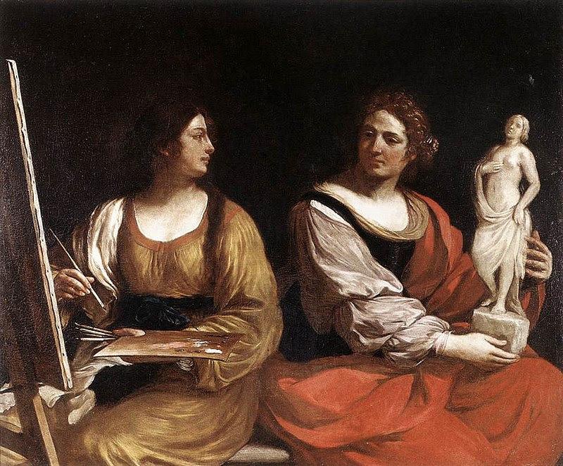 Guercino Allegoria pittura scultura.jpg