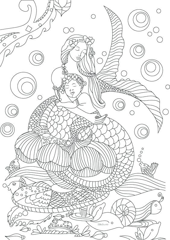 Mermaid Fairy Coloring Pages at GetColorings.com | Free ...