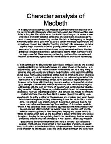 write a short essay exploring the character of lady macbeth