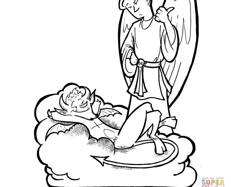 malvorlagen engel und teufel