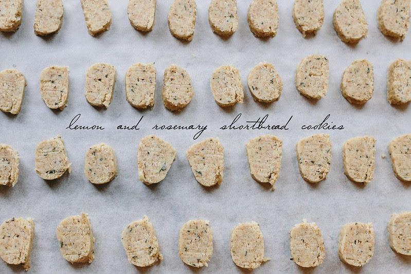 Lemon and Rosemary Shortbread Cookies