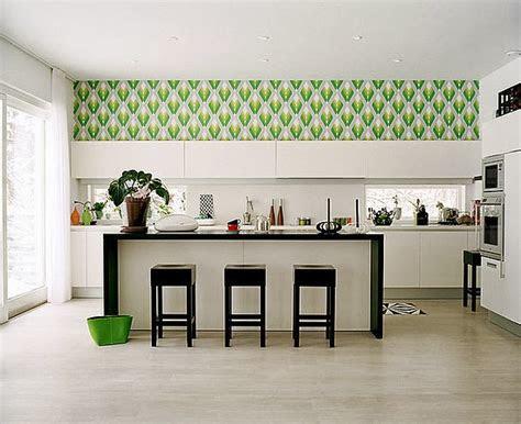 kitchen decorating ideas vinyl wallpaper   kitchen