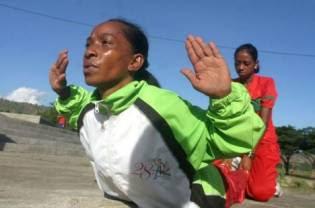 Timorese marathoner Amaral