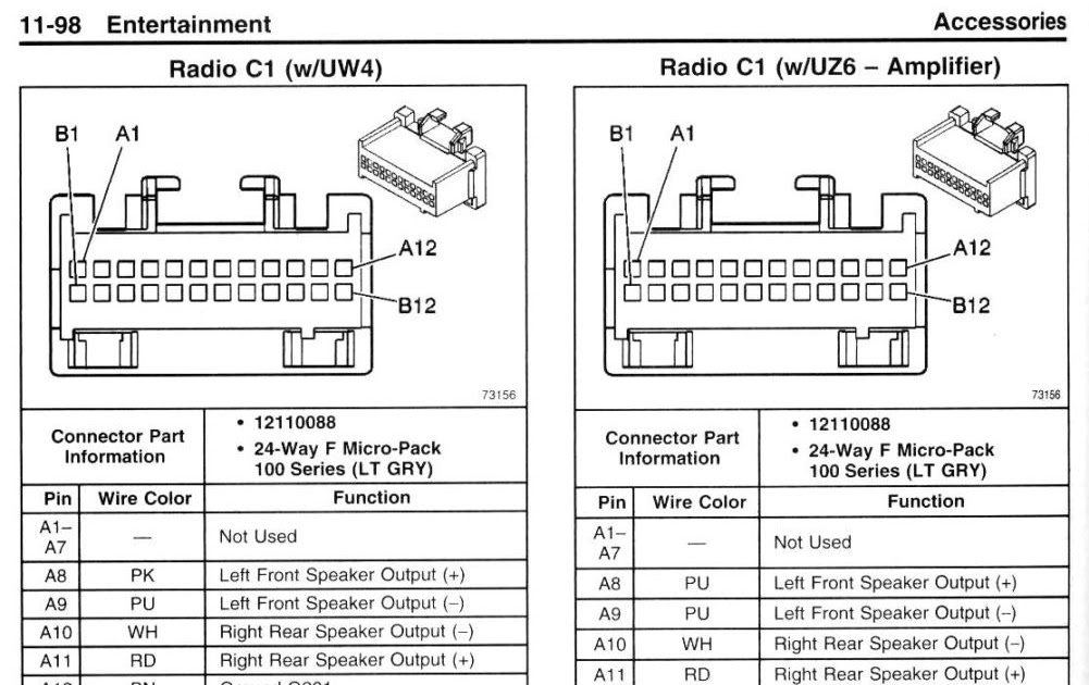 30 2002 Chevy Silverado Radio Wiring Diagram