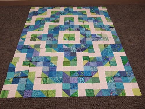 Water quilt beginning