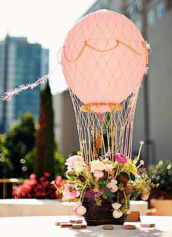 central balão de ar quente