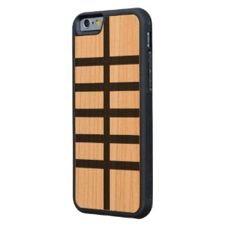 5 Bisected Black Lines Cherry iPhone 6 Bumper Case