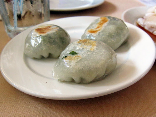 chive and shrimp dumpling