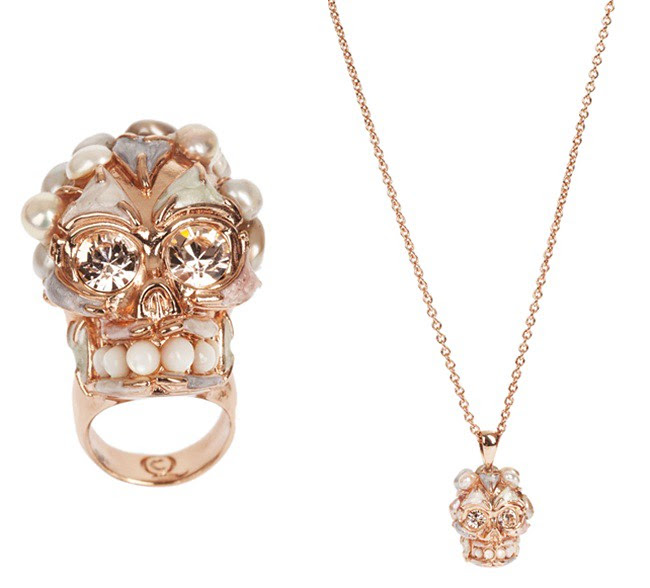7 - rose gold - colored pearls
